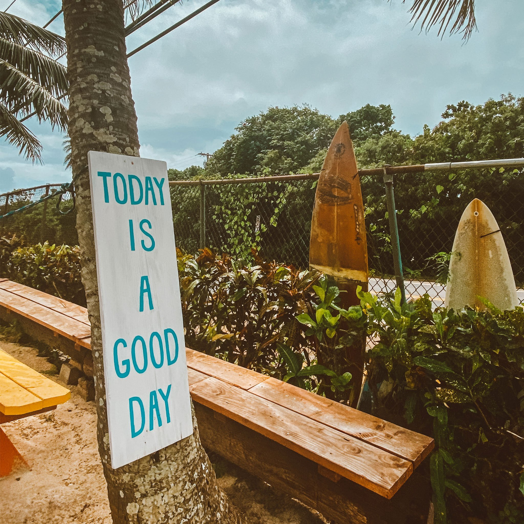 """Image of """"Today is a good day"""" sign for How to Have a Good Day blog post"""