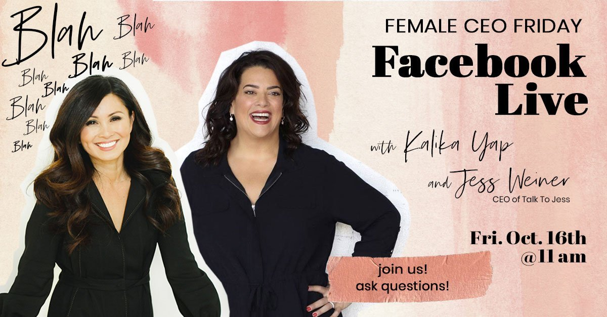 Female CEO Friday with Jess Weiner event's featured image for kalika.com