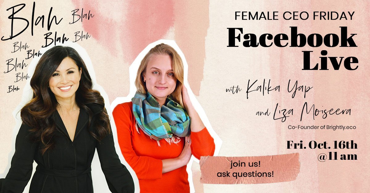 Female CEO Friday with Liza Moiseera event's featured image for kalika.com