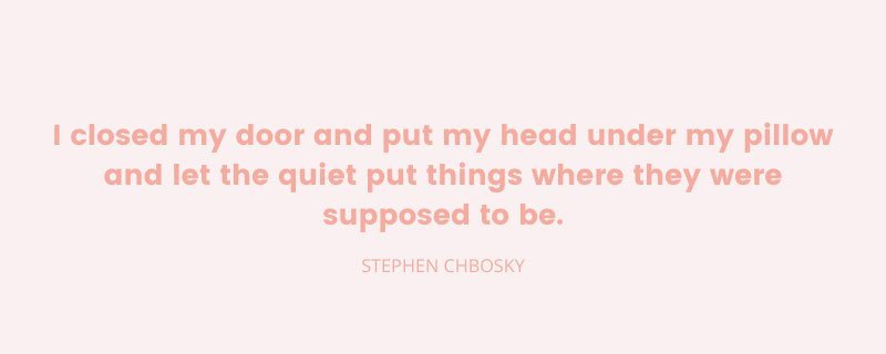 Stephen Chbosky image quote for The Jewel of Silence