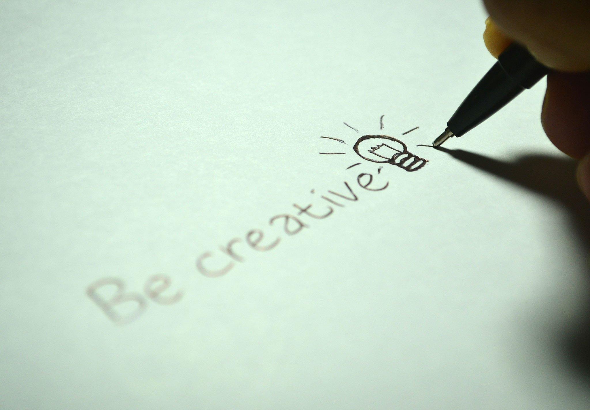 be creative illustration for entrepreneur and creativity blog post