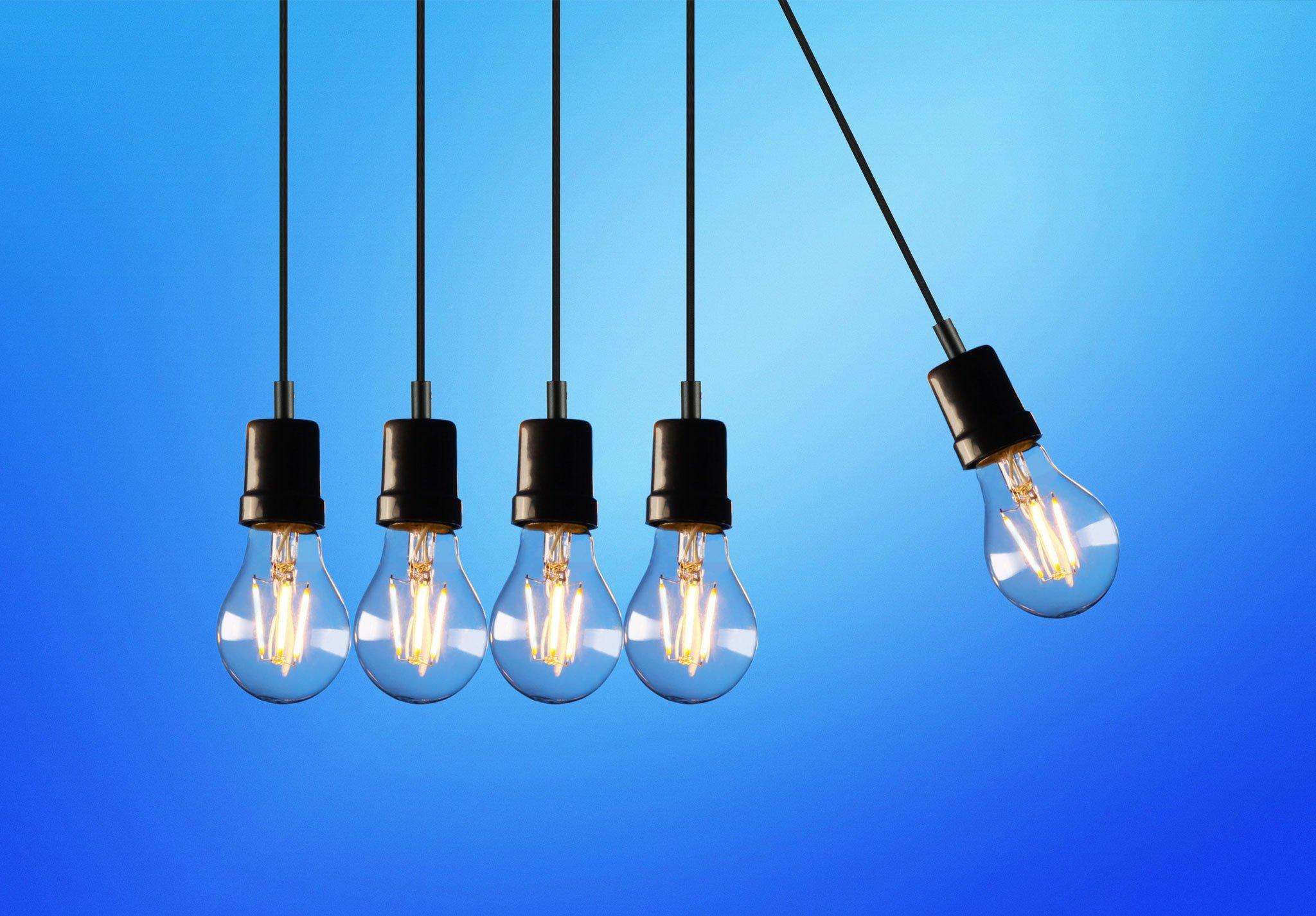 Idea bulb imagery for entrepreneur and creativity blog post