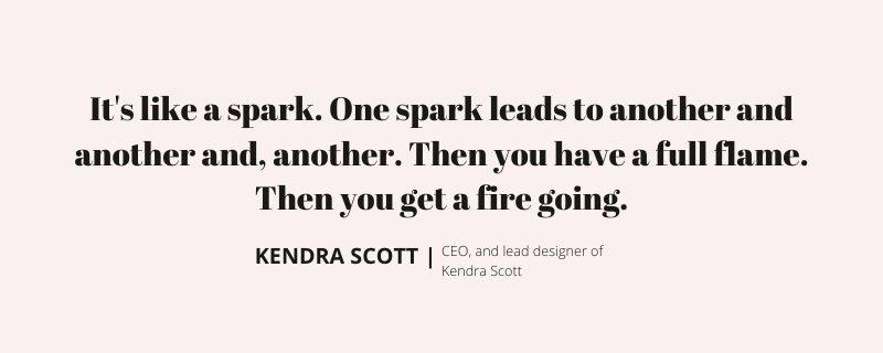 Kendra Scott Image quote for The Billion Dollar Seat for kalika.com