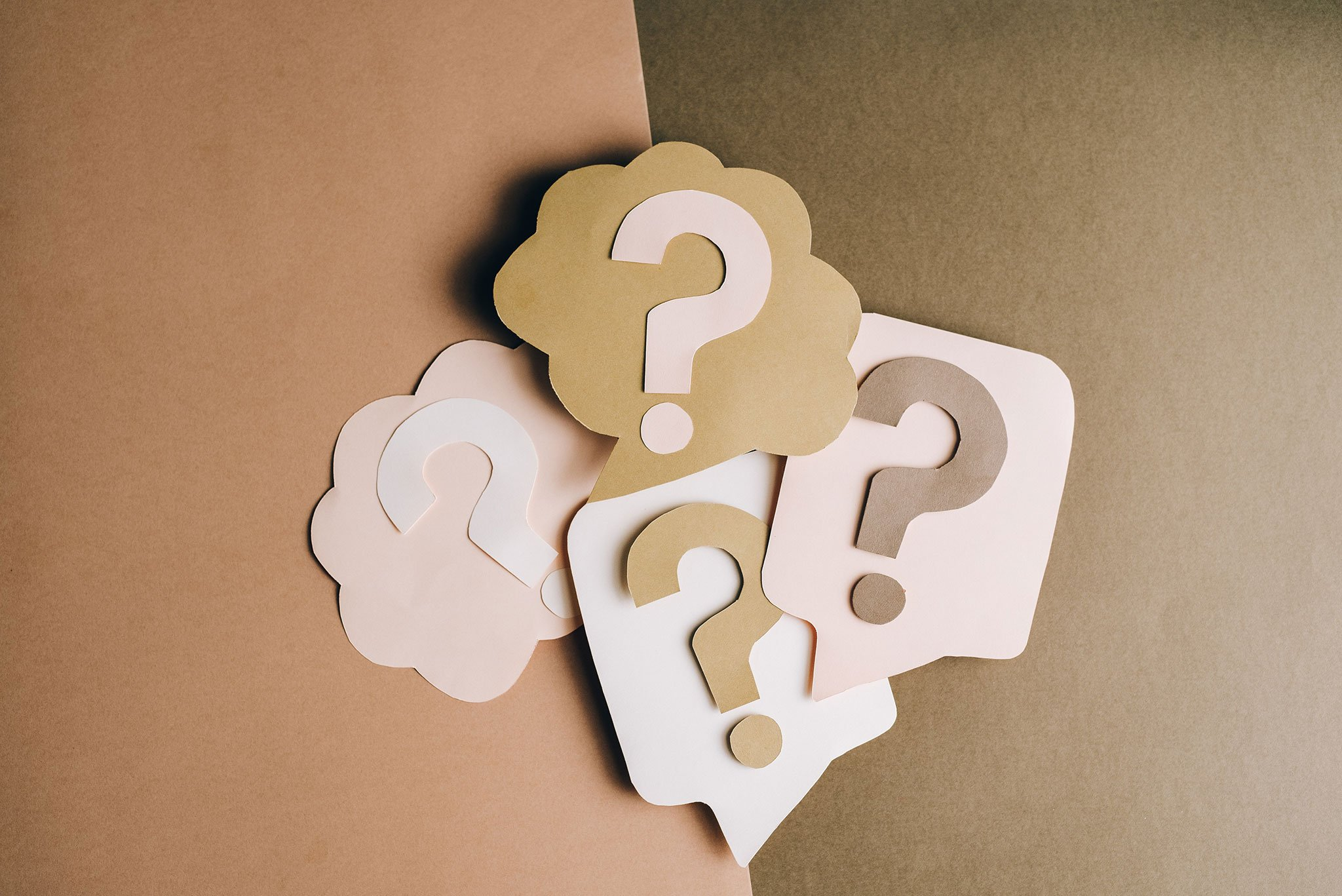 Image of Question Mark cutouts was uploaded for kalika.com