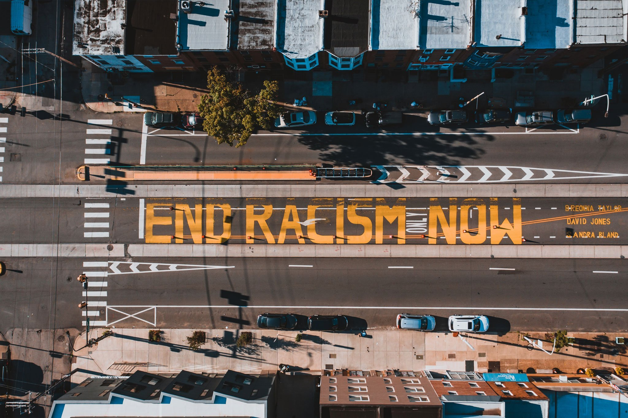 Image of End Racism Now was featured in the power of equality blog post