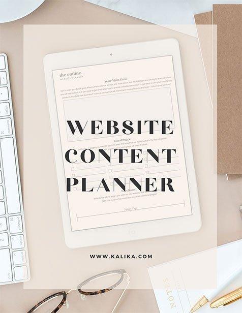 Website Content Planner by kalika yap for online marketing file