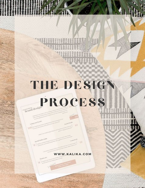The Design process by Kalika Yap for Online Marketing