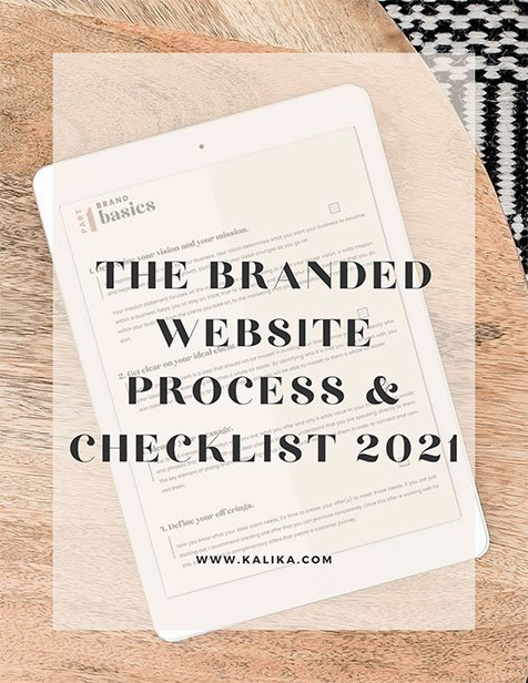 The Branded Website Process & Checklist 2021 by Kalika Yap